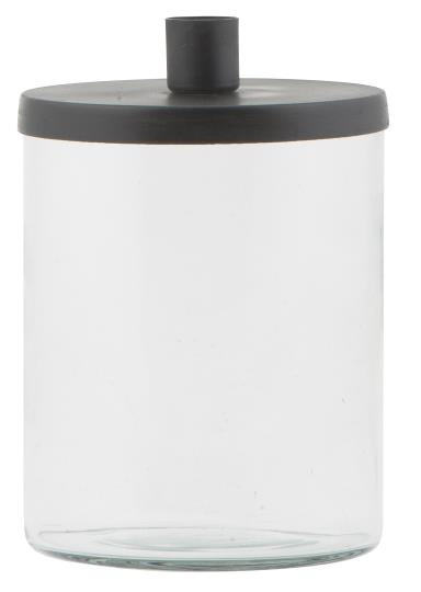 Kerzenhalter Glas mit Metalldeckel für Stabkerzen - IB Laursen