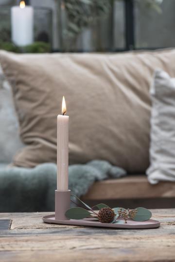 Kerzenhalter oval für Stabkerze - IB Laursen