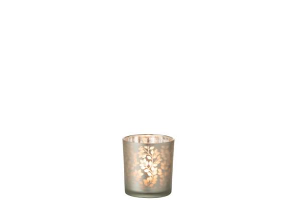 Teelichthalter mit Blättermuster