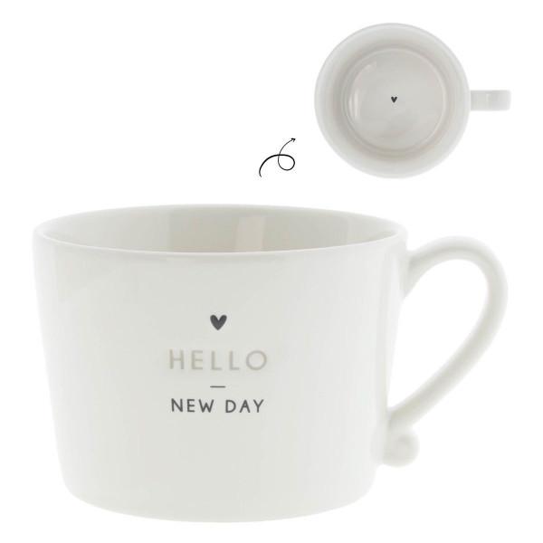 Tasse Hello New Day mit Herz - Bastion Collections