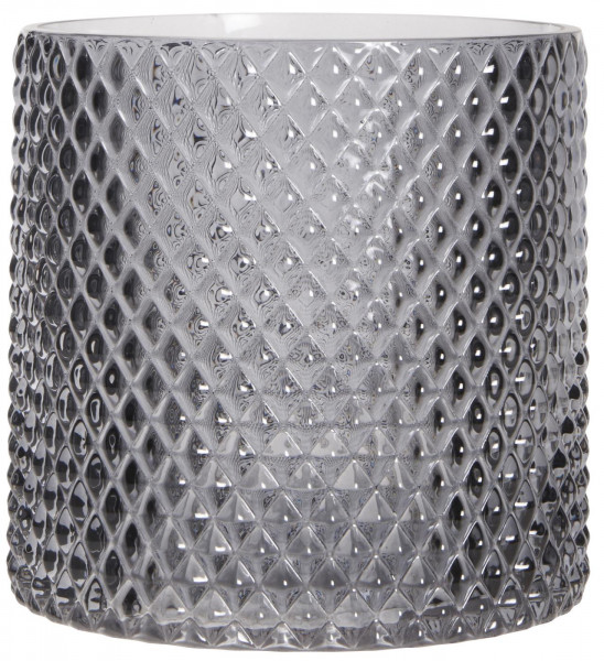 Kerzenglas grau IB Laursen