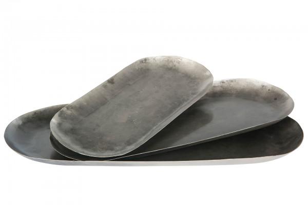 Metalltablett oval