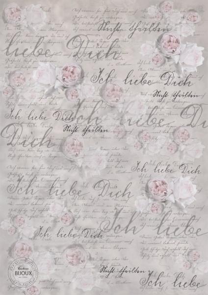 """Geschenkpapier Minibogen """"Liebesbeweis"""""""