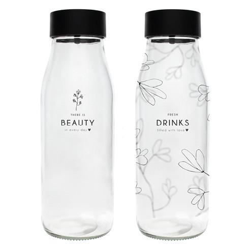 "Glaskaraffe ""Fresh Drinks & Beauty"" - Bastion Collections"