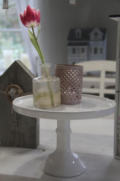 Etagere aus Porzellan, weiss