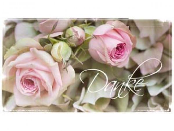 Minikarte Rose Danke