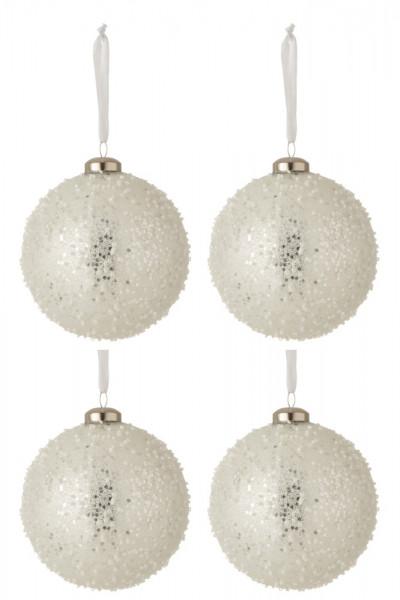 Weihnachtskugel mit Perlen