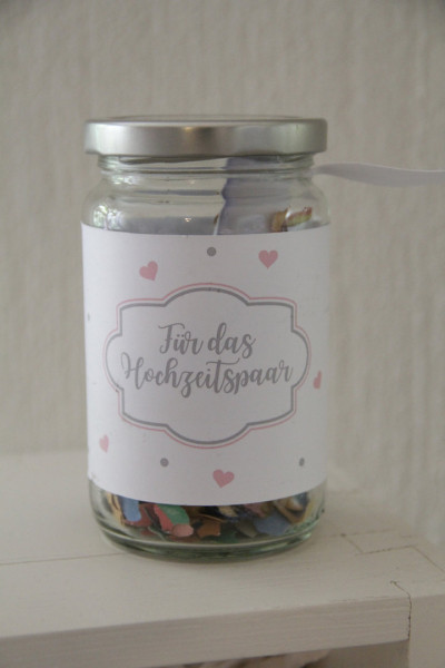 """Geschenkglas für Gutschein """"Hochzeitspaar"""""""
