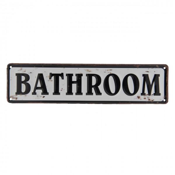 """Schild """"Bathroom"""" Clayre&Eef"""