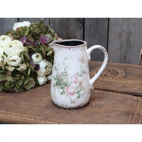 Krug mit Blumenmuster chic antique