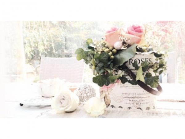 Minifaltkarte Rosen im Wintergarten