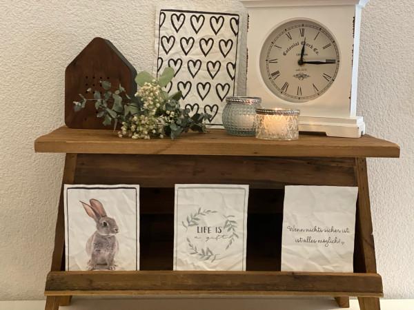 Holzbank für Pflanzen oder Dekoration, Chic Antique