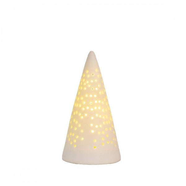 Lichttanne Porzellan mini LED - Räder