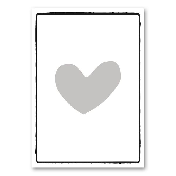 "Leinwandkarte Canvas ""grosses Herz"""