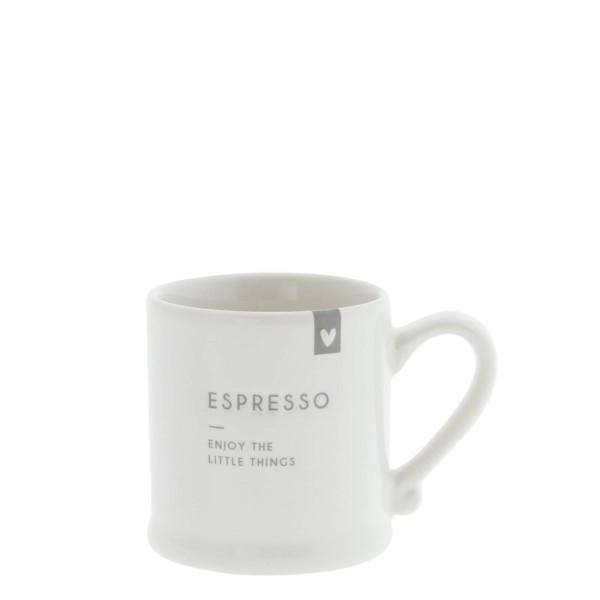 "Espressotasse ""Enjoy the little things"" grau - Bastion Collections"