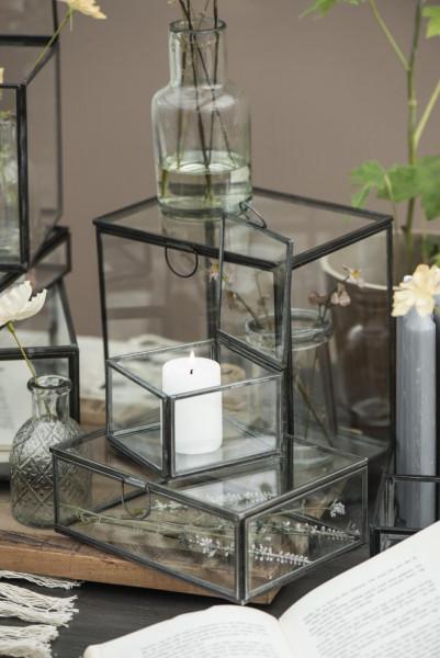 Glasbox mit Deckel Factory schwarz - IB Laursen