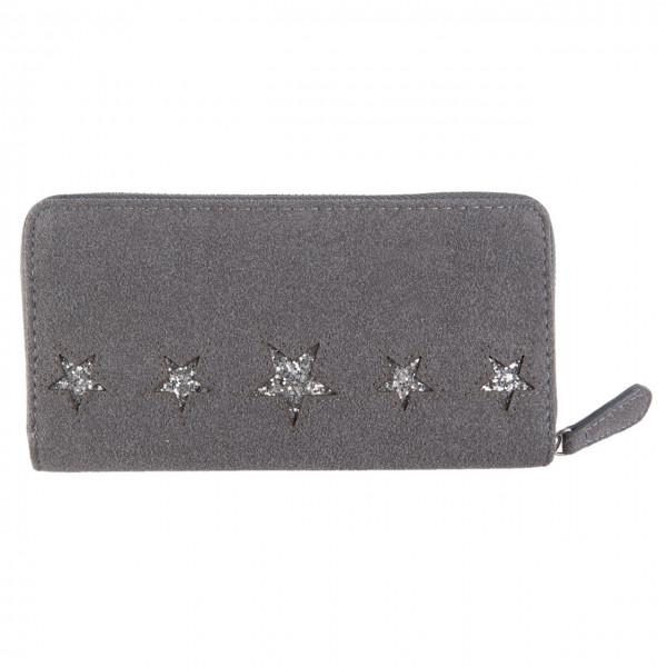 Portemonnaie mit Stern, grau