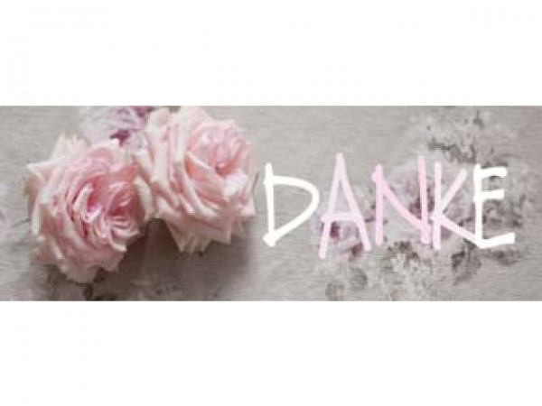 Geschenkanhänger Danke Rosenköpfe rosa