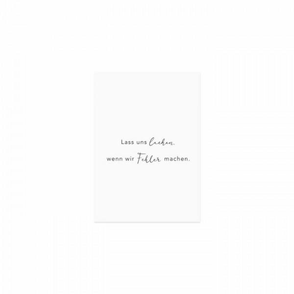 """Spruchkarte """"Lass uns lachen"""" - Eulenschnitt"""