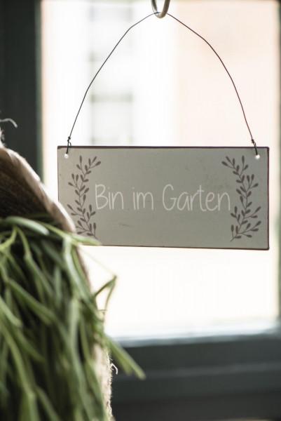 "Metallschild ""bin im Garten"", IB Laursen"