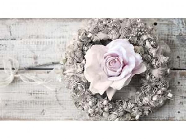 Geschenkanhänger Türkranz mit Rose