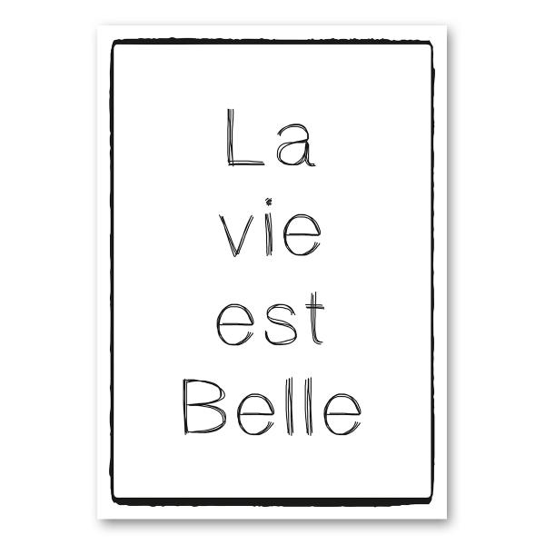 """Leinwandkarte Canvas """"La vie est Belle"""""""