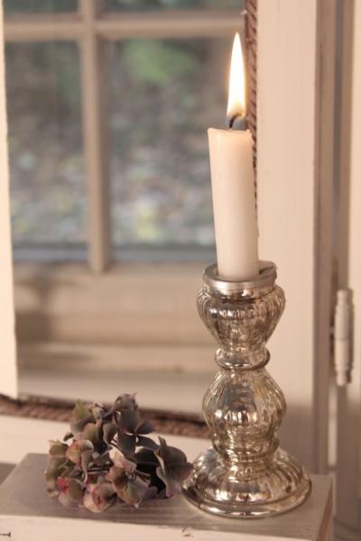 Kerzenständer antique Silber