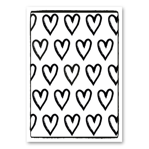 """Leinwandkarte Canvas """"Herzen"""""""