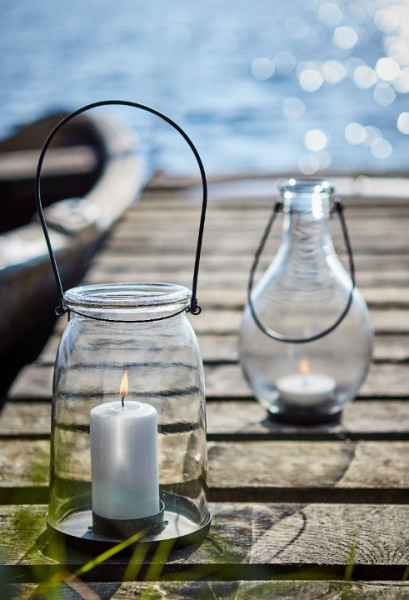 Laterne mit Henkel Nordic-Style