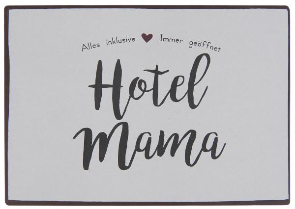 """Metallschild """"Hotel Mama"""" IB Laursen"""