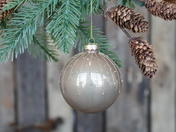 Weihnachtskugel mit Glasur, Chic Antique