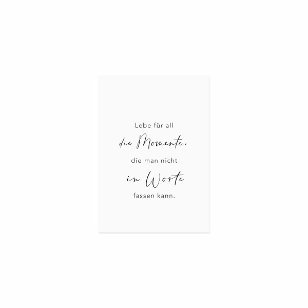 """Spruchkarte """"Momente"""", Eulenschnitt"""
