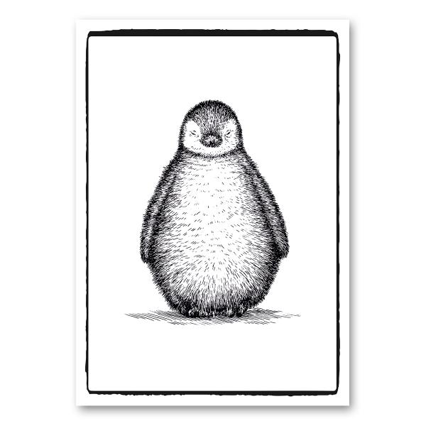 "Leinwandkarte Canvas ""Pinguin"""