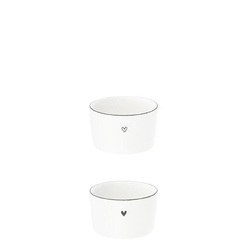 """Teelichthalter """"weiss/schwarz"""", Bastion Collections"""
