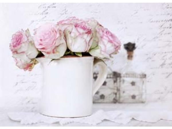 Postkarte Rosen im Krug