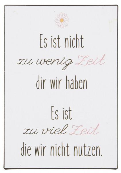 """Metallschild """"Zeit"""" IB Laursen"""