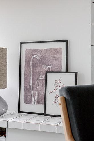 """Blumendruck Schneeglöckchen I """"grauer Lavendel"""", XIXI Floral"""
