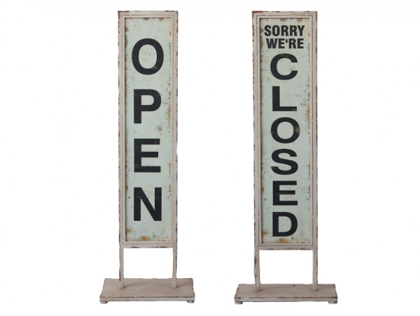 Tafel auf Fuss open/closed, Chic Antique