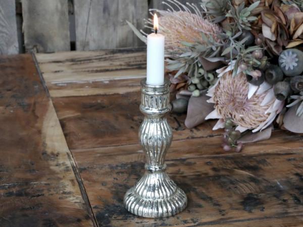 Kerzenständer bauernsilber für Stabkerzen - Chic Antique