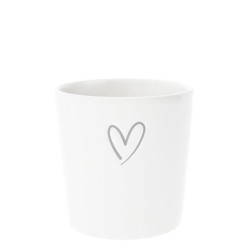 Tasse ohne Henkel mit Herzumriss von Bastion Collections