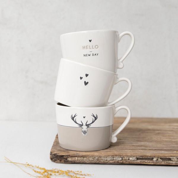 Tasse mit drei kleinen Herzen - Bastion Collections