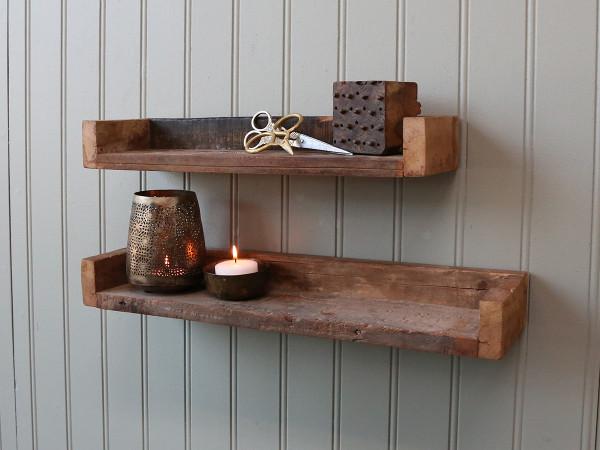 Wandregal aus altem Holz, Chic Antique
