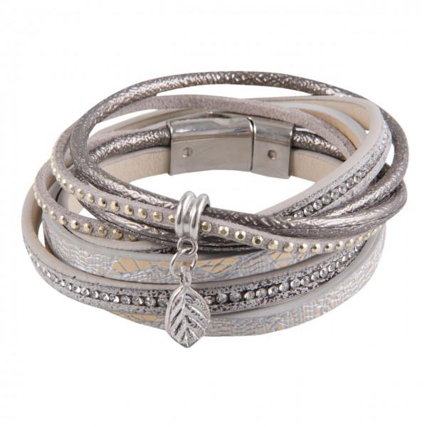 Armband grau-silber