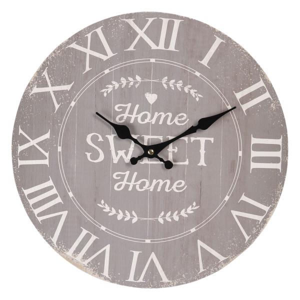 """Wanduhr """"Home sweet Home"""" Clayre&Eef"""