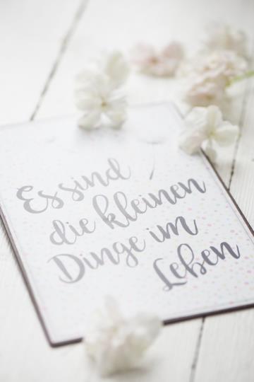 """Metallschild """"kleine Dinge im Leben"""" IB Laursen"""