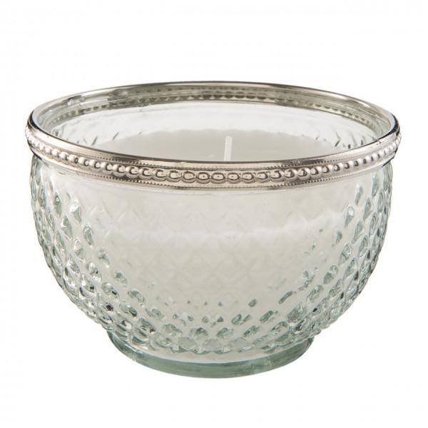 Kerzenglas mit Silberrand, Clayre&Eef