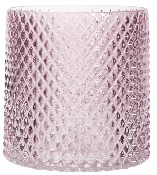 Kerzenglas hellrosa IB Laursen