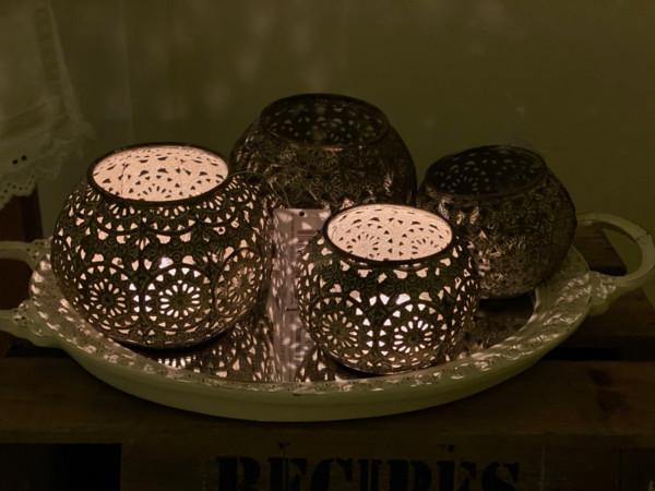 Vire Teelichthalter mit Muster Chic Antique