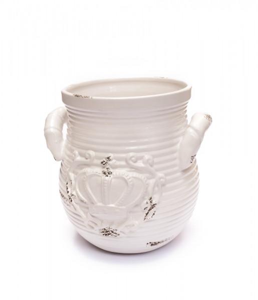Topf/Vase mit Ornament