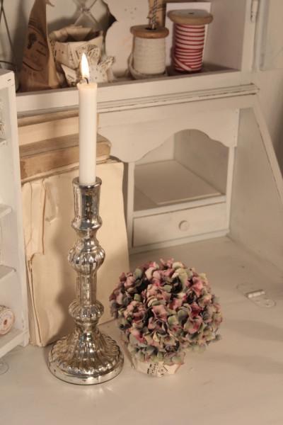 Kerzenständer mit Verzierung antique silber
